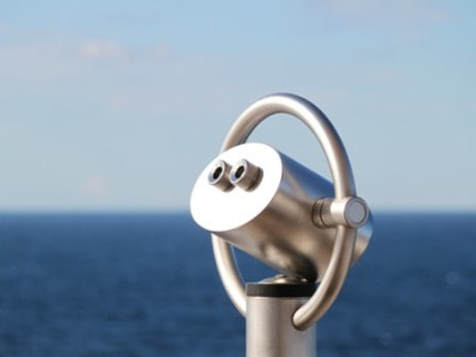 Binoculars on cruise ship